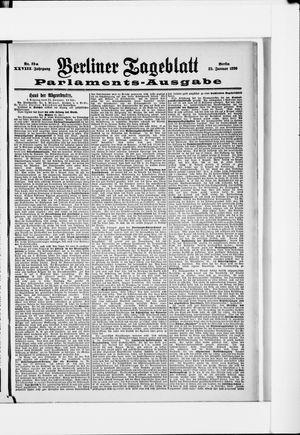 Berliner Tageblatt und Handels-Zeitung vom 22.01.1899