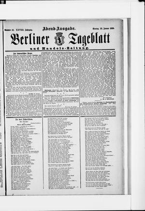 Berliner Tageblatt und Handels-Zeitung vom 23.01.1899