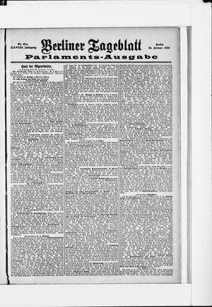 Berliner Tageblatt und Handels-Zeitung vom 24.01.1899