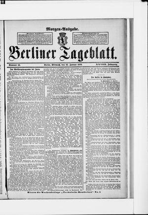 Berliner Tageblatt und Handels-Zeitung vom 25.01.1899