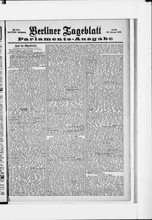 Berliner Tageblatt und Handels-Zeitung on Jan 26, 1899