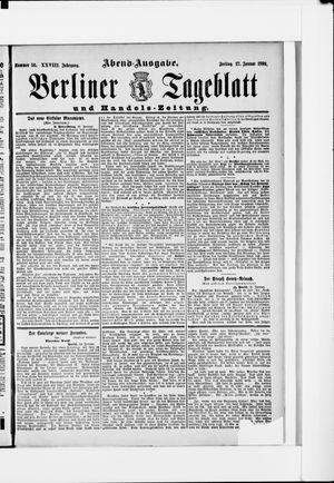 Berliner Tageblatt und Handels-Zeitung vom 27.01.1899