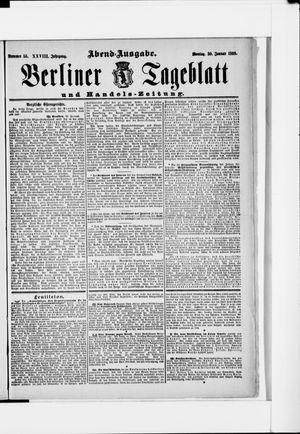 Berliner Tageblatt und Handels-Zeitung vom 30.01.1899