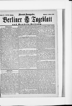 Berliner Tageblatt und Handels-Zeitung vom 01.02.1899