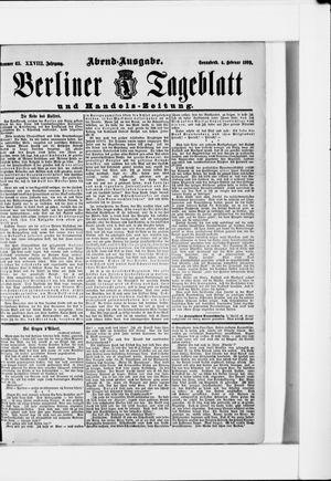 Berliner Tageblatt und Handels-Zeitung vom 04.02.1899