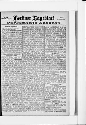 Berliner Tageblatt und Handels-Zeitung vom 08.02.1899