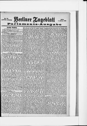 Berliner Tageblatt und Handels-Zeitung vom 09.02.1899