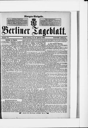 Berliner Tageblatt und Handels-Zeitung vom 10.02.1899