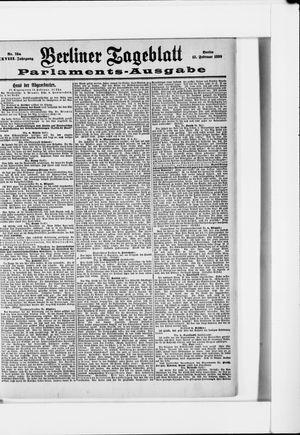 Berliner Tageblatt und Handels-Zeitung vom 12.02.1899