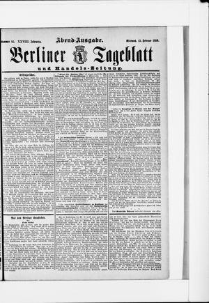 Berliner Tageblatt und Handels-Zeitung on Feb 15, 1899