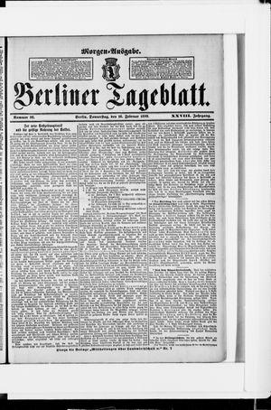 Berliner Tageblatt und Handels-Zeitung vom 16.02.1899
