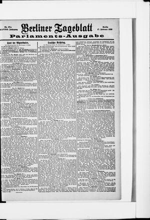 Berliner Tageblatt und Handels-Zeitung vom 17.02.1899