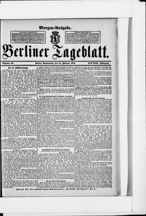 Berliner Tageblatt und Handels-Zeitung vom 18.02.1899