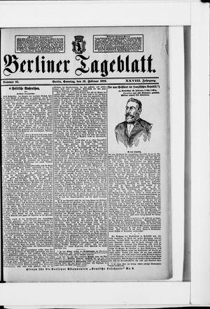 Berliner Tageblatt und Handels-Zeitung vom 19.02.1899