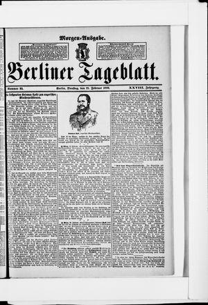 Berliner Tageblatt und Handels-Zeitung vom 21.02.1899