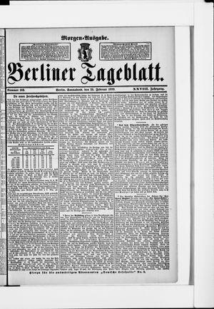 Berliner Tageblatt und Handels-Zeitung vom 25.02.1899