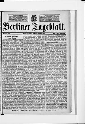 Berliner Tageblatt und Handels-Zeitung vom 26.02.1899