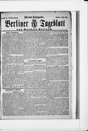 Berliner Tageblatt und Handels-Zeitung on Mar 1, 1899