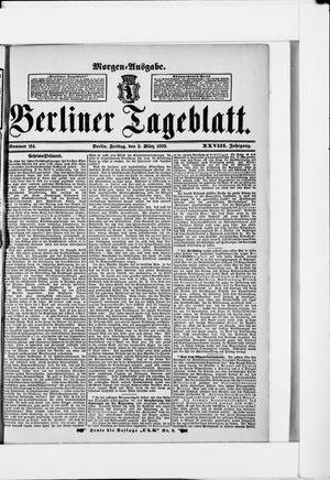 Berliner Tageblatt und Handels-Zeitung on Mar 3, 1899