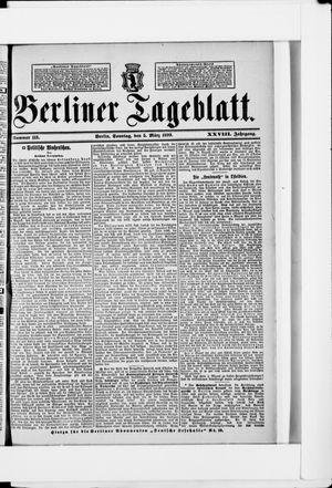 Berliner Tageblatt und Handels-Zeitung vom 05.03.1899