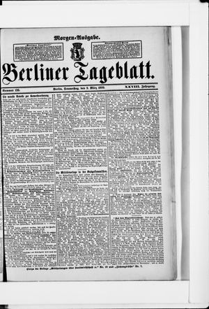 Berliner Tageblatt und Handels-Zeitung vom 09.03.1899