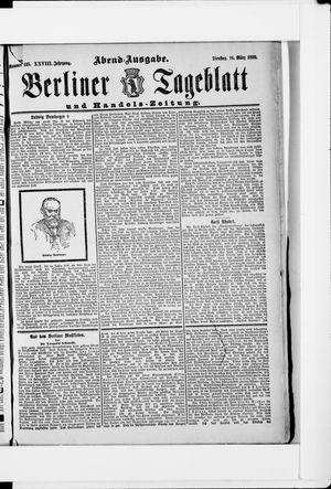 Berliner Tageblatt und Handels-Zeitung vom 14.03.1899