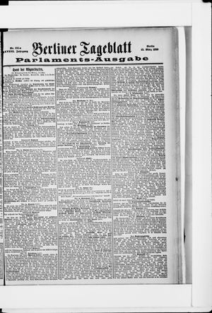 Berliner Tageblatt und Handels-Zeitung vom 15.03.1899