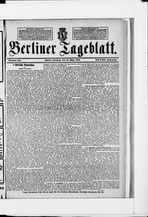 Berliner Tageblatt und Handels-Zeitung on Mar 19, 1899