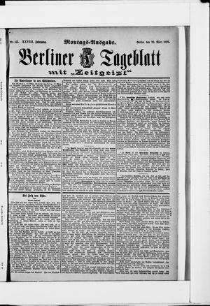 Berliner Tageblatt und Handels-Zeitung vom 20.03.1899