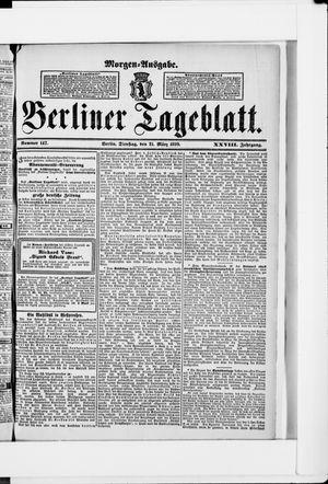 Berliner Tageblatt und Handels-Zeitung on Mar 21, 1899