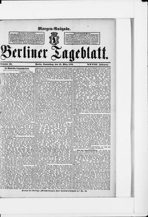 Berliner Tageblatt und Handels-Zeitung vom 23.03.1899