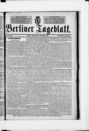 Berliner Tageblatt und Handels-Zeitung vom 26.03.1899