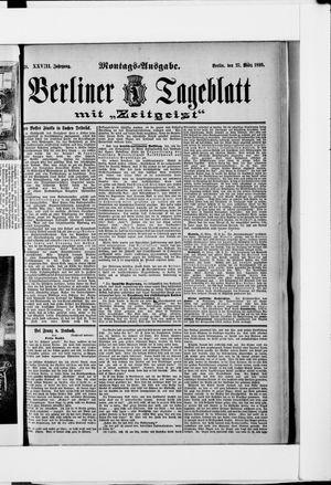 Berliner Tageblatt und Handels-Zeitung vom 27.03.1899