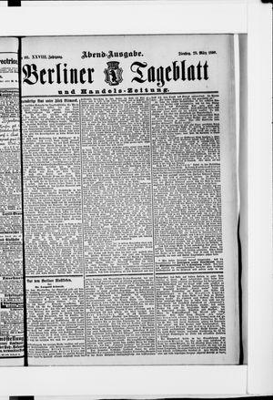 Berliner Tageblatt und Handels-Zeitung vom 28.03.1899