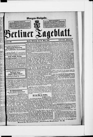 Berliner Tageblatt und Handels-Zeitung vom 29.03.1899