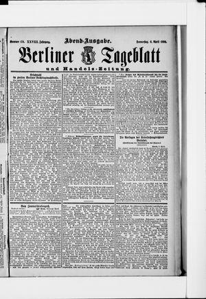 Berliner Tageblatt und Handels-Zeitung vom 06.04.1899