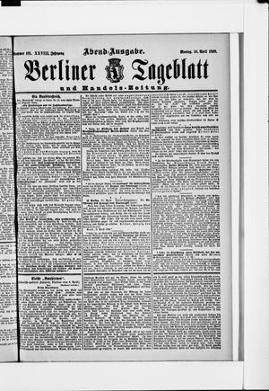 Berliner Tageblatt und Handels-Zeitung vom 10.04.1899