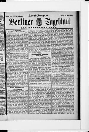 Berliner Tageblatt und Handels-Zeitung vom 11.04.1899