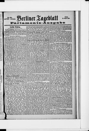 Berliner Tageblatt und Handels-Zeitung vom 13.04.1899