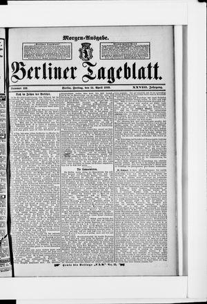 Berliner Tageblatt und Handels-Zeitung on Apr 14, 1899