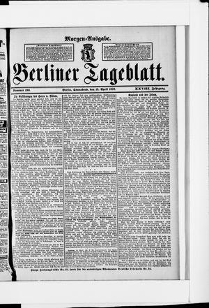 Berliner Tageblatt und Handels-Zeitung vom 15.04.1899