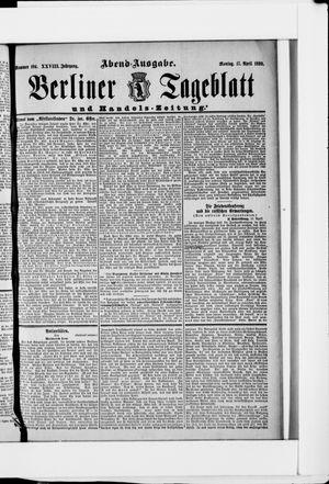 Berliner Tageblatt und Handels-Zeitung on Apr 17, 1899