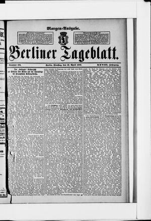 Berliner Tageblatt und Handels-Zeitung vom 18.04.1899
