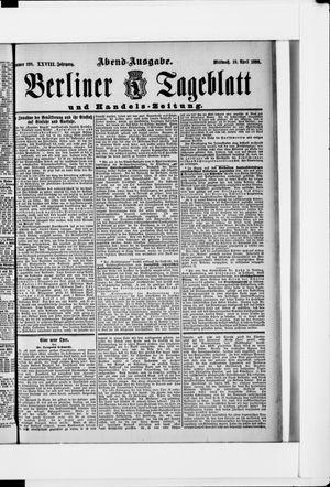 Berliner Tageblatt und Handels-Zeitung vom 19.04.1899