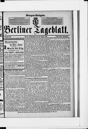 Berliner Tageblatt und Handels-Zeitung vom 20.04.1899