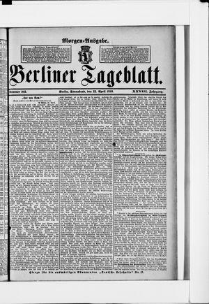 Berliner Tageblatt und Handels-Zeitung vom 22.04.1899