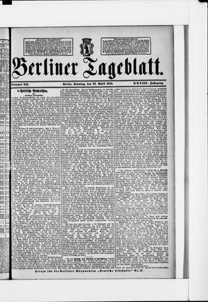 Berliner Tageblatt und Handels-Zeitung vom 23.04.1899