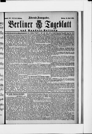 Berliner Tageblatt und Handels-Zeitung vom 24.04.1899