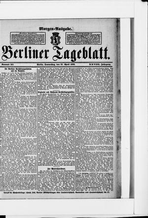 Berliner Tageblatt und Handels-Zeitung vom 27.04.1899
