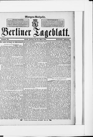 Berliner Tageblatt und Handels-Zeitung vom 28.04.1899